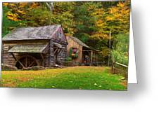 Fall Down On The Farm Greeting Card by William Jobes