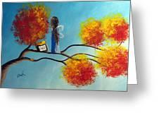 Fall Fairy By Shawna Erback Greeting Card by Shawna Erback