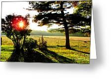 Fall Farm Sunrise 10 10 13 Greeting Card by Tina M Wenger