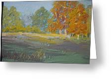 Fall Field Greeting Card by Dwayne Gresham
