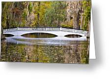 Fall Footbridge Greeting Card by Al Powell Photography USA