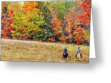 Fall Hack Greeting Card by Peter Lindsay