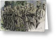 Fall In Norfolk Volunteers Greeting Card by Frank Gillett