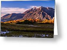 Fall Meadow Greeting Card by Chad Dutson