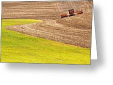 Fall Plowing Greeting Card by Latah Trail Foundation