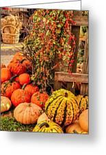 Fall Produce Greeting Card by Gene Sherrill