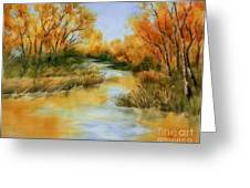 Fall River Greeting Card by Summer Celeste