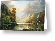 Fall Serene Greeting Card by John Zaccheo
