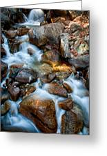 Falls And Rocks Greeting Card by Cat Connor