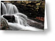 Falls At Melville Greeting Card by Andrew Pacheco