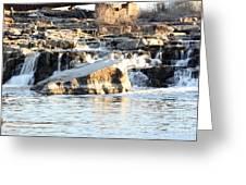 Falls Park Waterfalls Greeting Card by Lori Tordsen