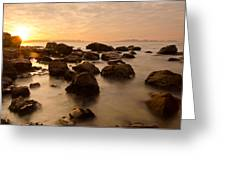 False Bay Sunrise Greeting Card by Aaron S Bedell