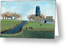 Family Dairy Greeting Card by John Wyckoff