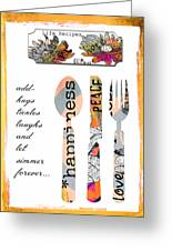 Family Love Recipes Greeting Card by Anahi DeCanio