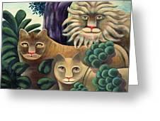 Family Portrait Greeting Card by Jerzy Marek
