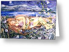 Family Greeting Card by Trudi Doyle