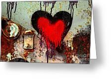 Fanatic Heart Greeting Card by Lauren Hunter