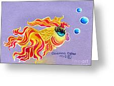 Fancytail Goldfish Greeting Card by Genevieve Esson