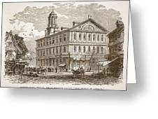 Faneuil Hall, Boston, Which Webster Greeting Card by American School