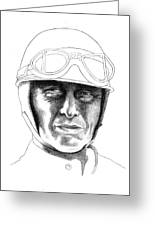 Fangio Greeting Card by Diane Fine