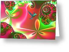 Fantasia Landscape Greeting Card by Sharon Lisa Clarke