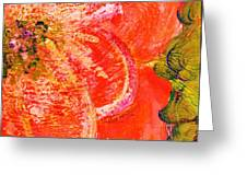 Fantasia with Orange  Greeting Card by Anne-Elizabeth Whiteway