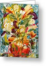 Fantasy Floral 1 Greeting Card by Carole Goldman