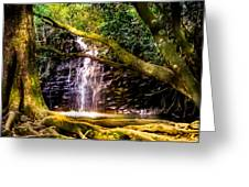 Fantasy Forest Greeting Card by Karen Wiles