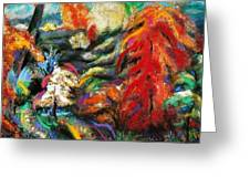 Fantasy Landscape Greeting Card by Jodie Marie Anne Richardson Traugott          aka jm-ART