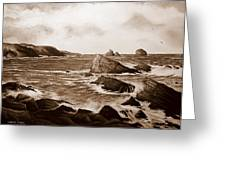 Faraid Head Durness Scotland Greeting Card by Andrew Read