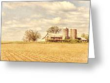 Farm And Fields  Greeting Card by Olivier Le Queinec