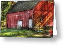 Farm - Barn - The Old Red Barn Greeting Card by Mike Savad