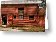 Farm - Barn - Visiting The Farm Greeting Card by Mike Savad