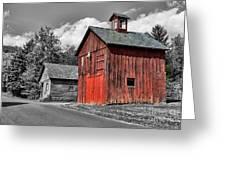 Farm - Barn - Weathered Red Barn Greeting Card by Paul Ward