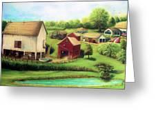 Farm Greeting Card by Bernadette Krupa