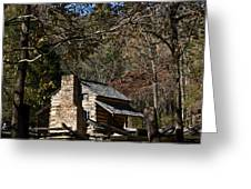 Farm Cabin Cades Cove Tennessee Greeting Card by Douglas Barnett
