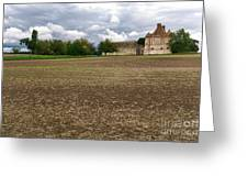 Farm Castle Greeting Card by Olivier Le Queinec
