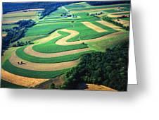 Farm Designs Pennsylvania Aerial Greeting Card by Blair Seitz