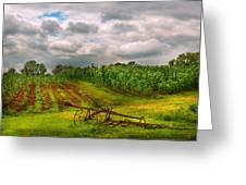 Farm - Organic Farming Greeting Card by Mike Savad