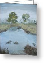 Farm Pond Greeting Card by Dwayne Gresham