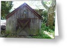 Farm Shed Greeting Card by Allan Richter