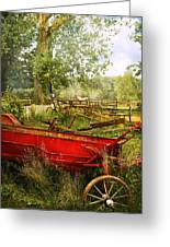 Farm - Tool - A Rusty Old Wagon Greeting Card by Mike Savad