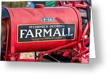 Farmall F-14 Tractor I Greeting Card by Clarence Holmes