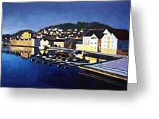 Farsund In Winter Greeting Card by Janet King