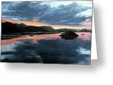 Farsund Sunrise Greeting Card by Janet King