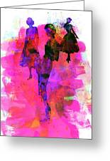 Fashion Models 1 Greeting Card by Naxart Studio