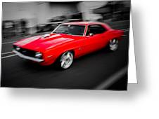 Fast Camaro Greeting Card by Phil 'motography' Clark