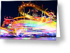 Fast Ride At The Octoberfest In Munich Greeting Card by Sabine Jacobs