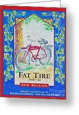 Fat Tire Greeting Card by Cheryl Young