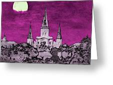Fat Tuesday Eve Greeting Card by Kathy Bassett